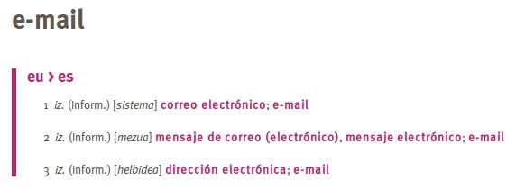 elhuyarren e-mail gaztelaniaz